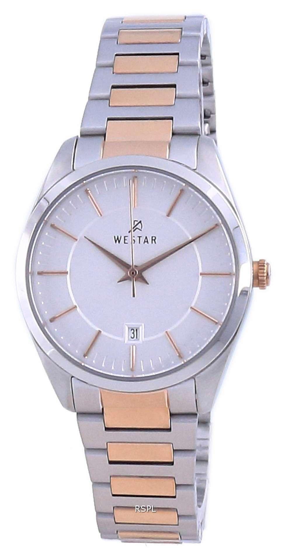 Westar Silver Dial Two Tone Stainless Steel Quartz 40213 SPN 607 Reloj para mujer
