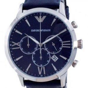 Emporio Armani Giovanni cronógrafo esfera azul cuarzo AR11226 reloj para hombre