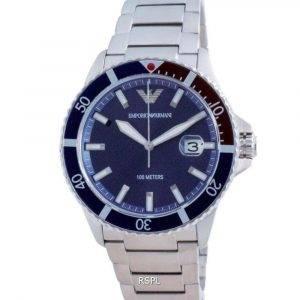Reloj Emporio Armani con esfera azul de acero inoxidable y cuarzo AR11339 100M para hombre
