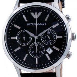 Emporio Armani Renato Classic Chronograph Quartz Black Dial AR2447 Reloj para hombre