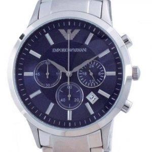 Emporio Armani Renato Classic Chronograph Blue Dial Quartz AR2448 Reloj para hombre