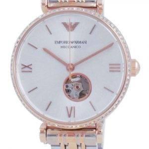 Emporio Armani Gianni T-Bar Open Heart Diamond Accents Reloj unisex automático AR60019