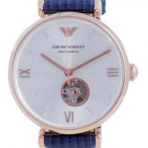 Emporio Armani Gianni T-BAR Open Heart Silver Dial Automatic AR60020 Reloj para mujer