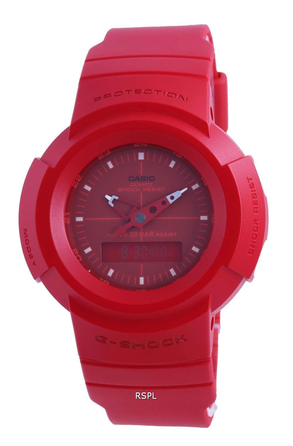 Reloj Casio G-Shock estándar analógico digital automático AW-500BB-4E AW500BB-4 200M para hombre