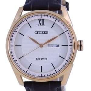 Reloj para hombre Citizen Ivory Dial Leather Eco-Drive AW0082-19A 100M
