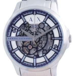 Reloj para hombre Armani Exchange Hampton Skeleton de acero inoxidable automático AX2416