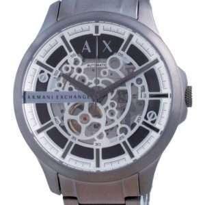 Reloj para hombre Armani Exchange Hampton Skeleton de acero inoxidable automático AX2417