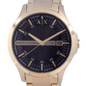 Armani Exchange Hampton Black Dial Quartz AX7124 Reloj para hombre con correa Set de regalo