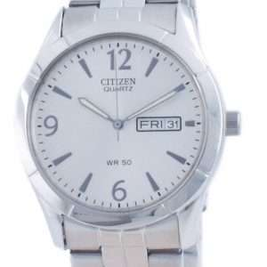 Reloj para hombre Citizen Classic Silver Dial, acero inoxidable, cuarzo BK3830-51A