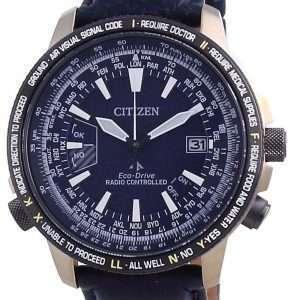 Reloj Citizen Promaster Radiocontrolado Eco-Drive Titanium CB0204-14L 200M Diver&#39,s para hombre