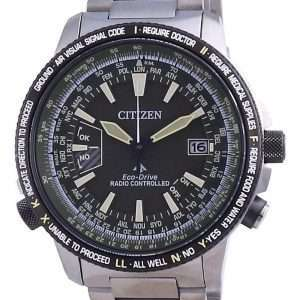 Reloj para hombre Citizen Promaster Eco-Drive Titanium CB0206-86X 200M Diver&#39,s controlado por radio