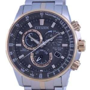 Citizen PCAT Cronógrafo controlado por radio de dos tonos Atomic Eco-Drive CB5886-58H 200M Reloj para hombre