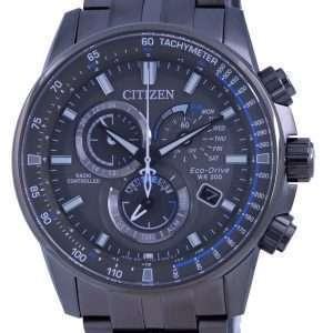 Reloj para hombre Citizen PCAT con esfera negra, cronógrafo controlado por radio, Atomic Eco-Drive CB5887-55H 200M
