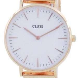 Cluse La Boheme Reloj de cuarzo de acero inoxidable en tono dorado rosa CW0101201024 para mujer