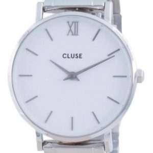 Cluse Minuit 3-Link White Dial acero inoxidable cuarzo CW0101203026 Reloj para mujer
