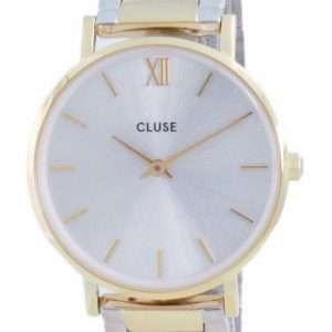 Cluse Minuit 3-Link Silver Dial Two Tone Stainless Steel Quartz CW0101203028 Reloj para mujer