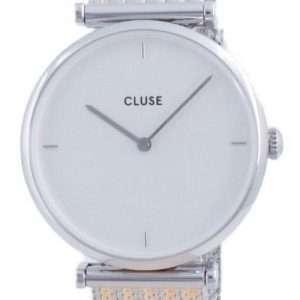 Reloj Cluse Triomphe de acero inoxidable con esfera blanca y cuarzo CW0101208003 para mujer
