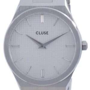 Cluse Vigoureux H-Link esfera blanca acero inoxidable cuarzo CW0101210003 reloj para mujer