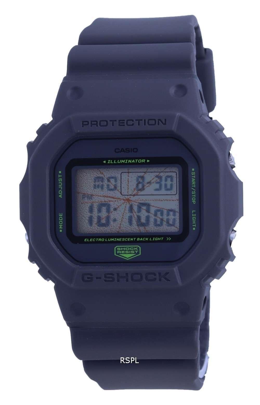 Reloj Casio G-Shock Tokyo Music Night Digital DW-5600MNT-1 DW5600MNT-1 200M para hombre