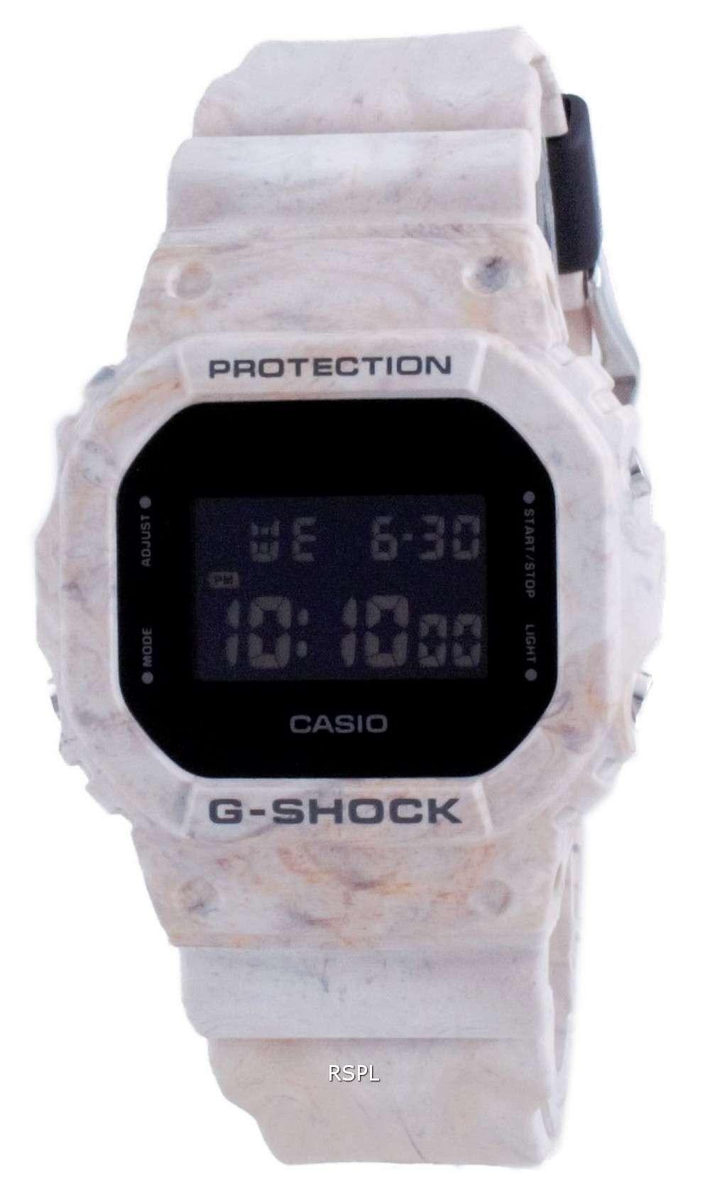 Reloj Casio G-Shock Utility Wavy Marble Digital Diver&#39,s DW-5600WM-5 DW5600WM-5 200M para hombre
