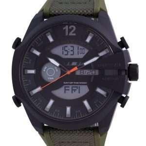 Diesel Mega Chief Grey Dial Silicone Quartz DZ4549 100M Reloj para hombre