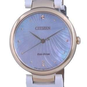 Reloj Citizen Mother Of Pearl Dial Satin Eco-Drive EM0853-22D para mujer