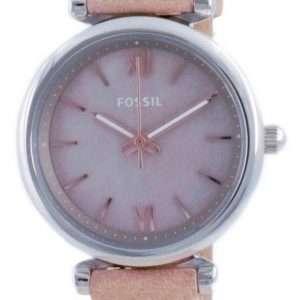 Fossil Carlie Mini Mother Of Pearl Dial Leather Quartz ES4530 Reloj para mujer