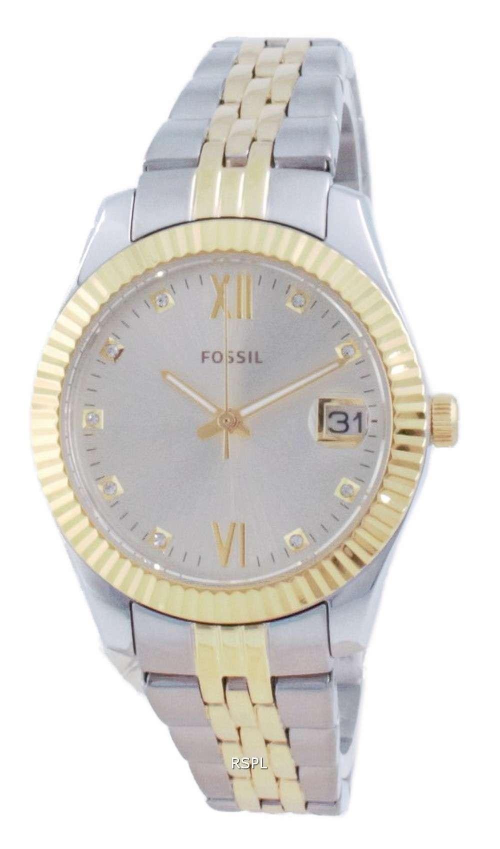 Fossil Scarlette Mini Diamond Accents Quartz ES4949 Reloj para mujer
