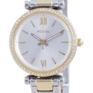 Fossil Carlie Mini Diamond Accents Quartz ES4955 Reloj para mujer