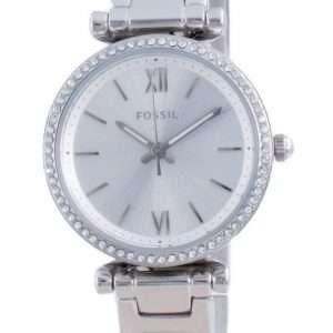 Fossil Carlie Mini Silver Dial Daimond Accents Quartz ES4956 Reloj para mujer