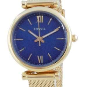 Fossil Carlie Mini reloj dorado de acero inoxidable de cuarzo ES5020 para mujer
