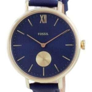 Fossil Kalya Blue Dial Leather Quartz ES5042 Reloj para mujer