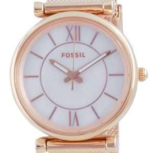 Fossil Carlie Rose Gold Tone Quartz ES5058SET Reloj para mujer
