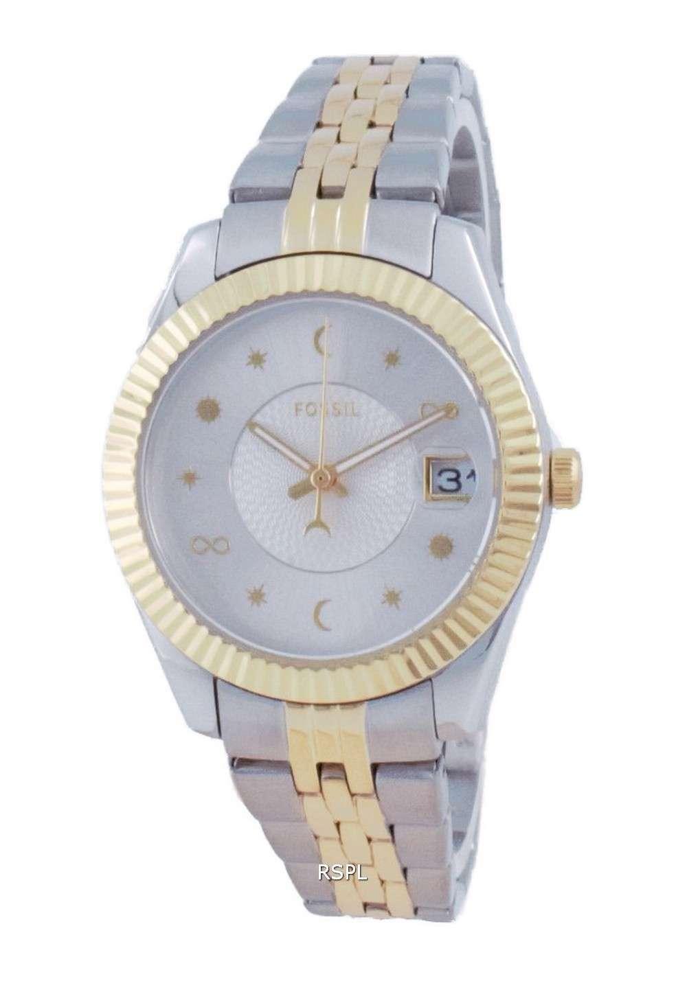 Fossil Scarlette Mini reloj de cuarzo de acero inoxidable ES5060 100M para mujer