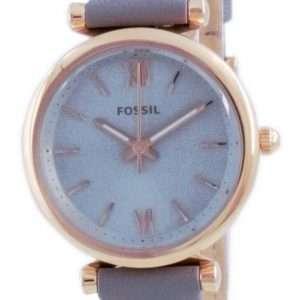 Fossil Carlie Mini Grey Dial Leather Quartz ES5068 Reloj para mujer