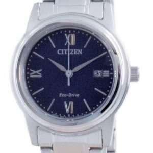 Reloj para mujer Citizen Classic Blue Dial de acero inoxidable Eco-Drive FE1220-89L 100M