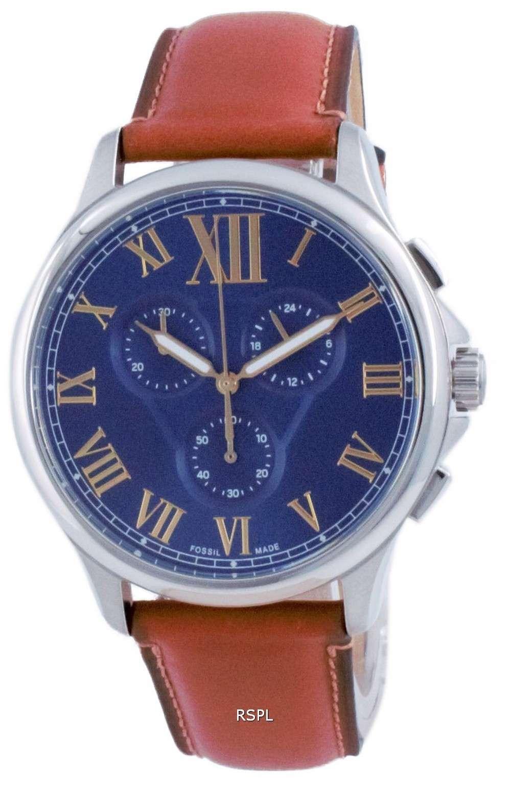 Reloj Fossil Monty Chronograph Leather Quartz FS5640 para hombre