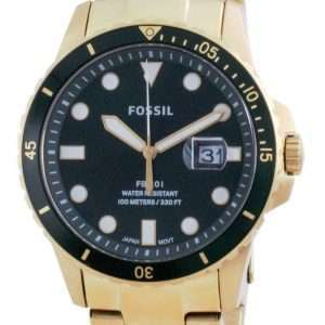 Fossil FB-01 Reloj de cuarzo de acero inoxidable con esfera verde FS5658 100M para hombre