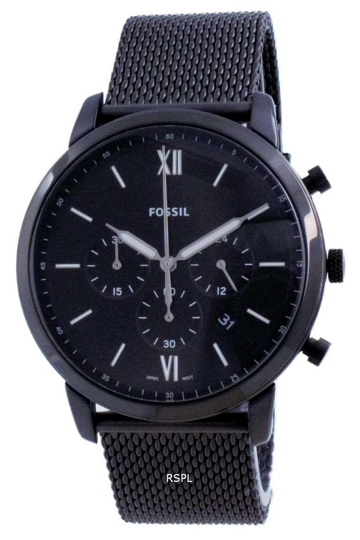 Fossil Neutra Black Dial Chronograph Quartz FS5707 Reloj para hombre
