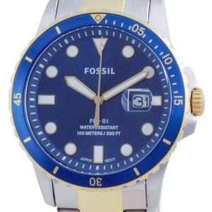 Fossil FB-01 Reloj de cuarzo de acero inoxidable FS5742 100M para hombre