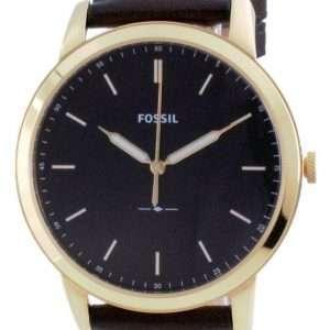 Fossil Minimalist 3H Reloj de cuarzo de cuero con esfera negra FS5756 para hombre