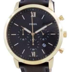 Fossil Neutra Chronograph Brown Dial Leather Quartz FS5763 Reloj para hombre