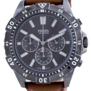 Fossil Garrett Chronograph Black Dial Leather Quartz FS5770 100M Reloj para hombre