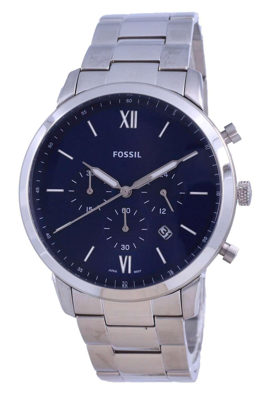 Fossil Neutra Reloj cronógrafo de acero inoxidable de cuarzo FS5792 para hombre