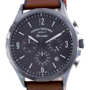 Reloj para hombre Fossil Forrester Chronograph Leather Quartz FS5815