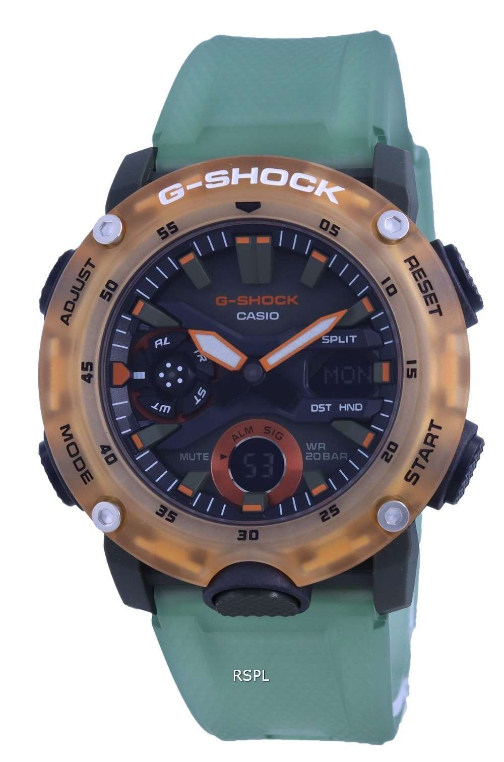 Reloj Casio G-Shock Special Color Analógico Digital GA-2000HC-3A GA2000HC-3 200M para hombre