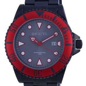 Reloj para hombre Invicta Pro Diver, esfera gris, acero inoxidable, cuarzo 90296 200M