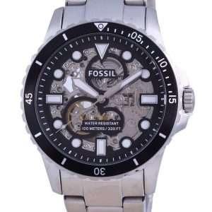 Fossil FB-01 Reloj para hombre con esfera negra y corazón abierto automático ME3190 100M