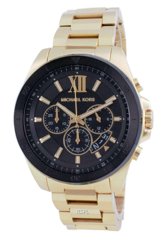 Michael Kors Brecken Chronograph Gold Tone Quartz MK8848 Reloj para hombre