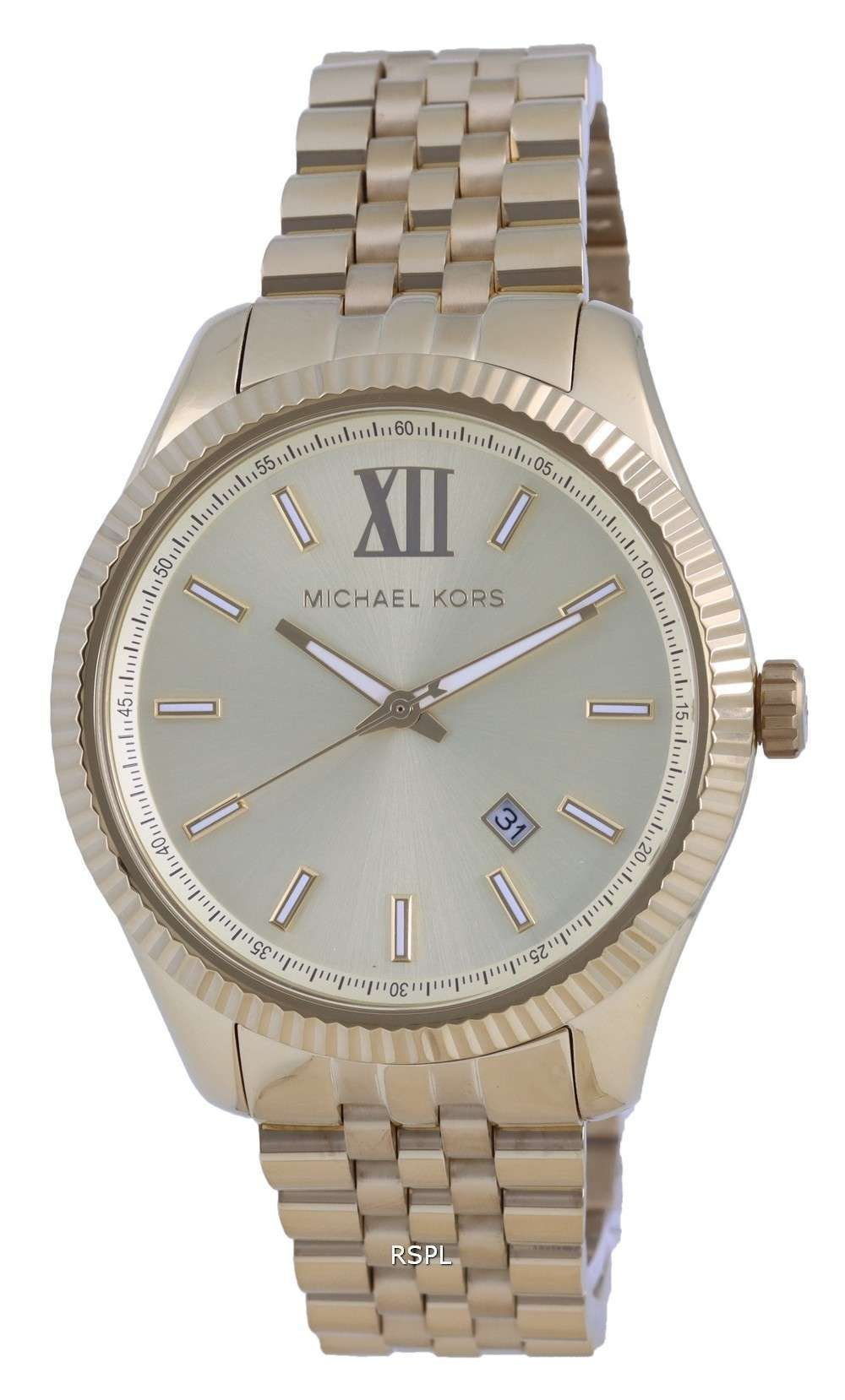 Michael Kors Lexington Gold Dial Quartz MK8857 Reloj para hombre